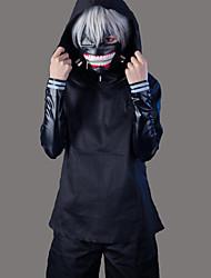 Inspiré par Cosplay Cosplay Manga Costumes de Cosplay Costumes Cosplay Couleur Pleine Noir Manche LonguesManteau Haut Pantalons Short