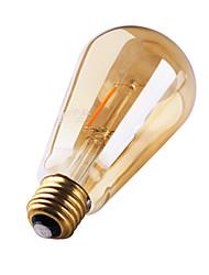 1 pcs gmy e27 3w 2 cob 180 lm blanc chaud st64 edison ampoules filament vintage led 220-240 v 2200k