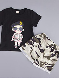 Boy's Rayon Clothing Set,Summer Solid