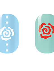 White/Red Hollow Nail Stickers