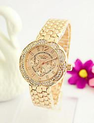 Mulheres Relógio de Moda Quartzo Impermeável Lega Banda Prata Dourada Ouro Rose # 1 # 2 # 3 # 4 # 5