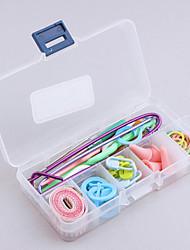 tricoter accessoires cas 60pcs approvisionnement mis outils de base + cas les lots pcs