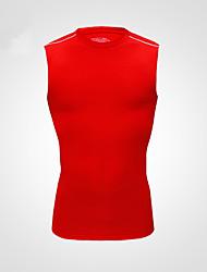 Vansydical Homens Secagem Rápida Fitness tops Vermelho / Cinzento / Roxo