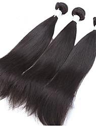 Unprocessed 3Pcs/Lot Brazilian Virgin Hair Straight 100% Human Hair Weft Brazilian Hair Weave Bundles
