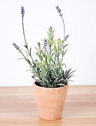 estilo flor artificial europeu, com miniascape vaso definida para a janela de casa decorartion (cor aleatória)