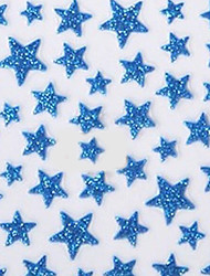 Lovely Blue Western Style Star 3D Nail Stickers