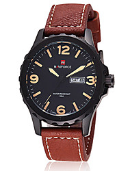NAVIFORCE Watch Luxury Brand Men Sports Watches Men's Leather Quartz waterproof Wristwatch Gift idea Wrist Watch Cool Watch Unique Watch