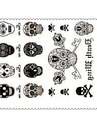 5 Tatuagem Adesiva Séries de Jóias / Séries Animal / Séries Flores / Séries Totem / Outros / Série dos desenhos animadosNon Toxic /