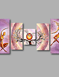"Stretched (ready to hang) Hand-Painted Oil Painting 64""x36"" Canvas Wall Art Modern Abstract Light Purple"