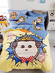 Monkey 100% Cotton Bedding Set print duvet cover Sets  Queen/Double/Full Size