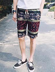 Men's Shorts,Casual / Sport Print / Patchwork Cotton