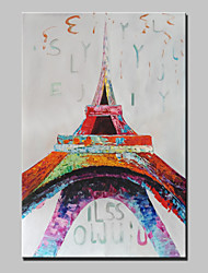 Lager Handmade Eiffel Tower Landscape Oil Painting Abstract Wall Paintings Art For Living Room Home Whit Frame