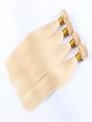 3pcs / lot de la venta caliente de la armadura del pelo rubio miel rubia brasileña del pelo recto pelo humano que teje