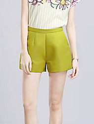 Women's Solid All Match Slim Plus Size Large Size Shorts Pants,Casual / Day / Street chic