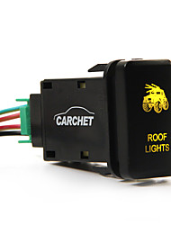CARCHETFor Toyota Push Switch Laser Backlit ROOF LIGHTS Orange LED Light ON-OFF Toggle Switch