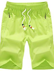Masculino Shorts Masculino Cor Solida Casual / Esporte / Tamanhos Grandes Algodão