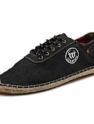 Men's Shoes Athletic Canvas Fashion Sneakers Black / Blue / White