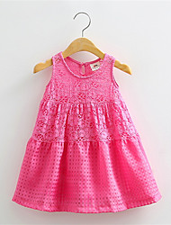 Fashion Summer Baby Girl's Pink Fuchsia White Short-Sleeve Dress Cute Children's Dresses Children's Clothing