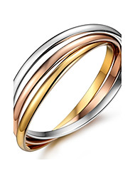 Gold Plated Triple Circle Stainless Steel Round Bangle