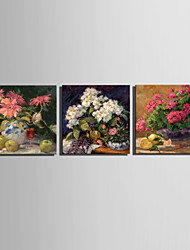 Mini Size E-HOME Oil painting Modern The Flowers On The Table Pure Hand Draw Frameless Decorative Painting