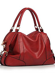 Women PU Sling Bag Shoulder Bag-Brown / Red / Black