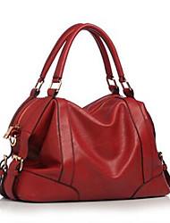 Коричневый / Красный / Черный-Сумка на плечо-Для женщин-Полиуретан-Слинг
