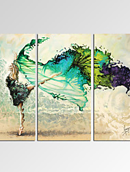 VISUAL STAR®Framed Abstract Wall Art for Home Decoration Dancing Girl Giclee Print on Canvas Ready to Hang