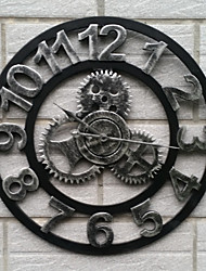 European Style Vintage Iron Mute Wall Clock(Silvery Color)