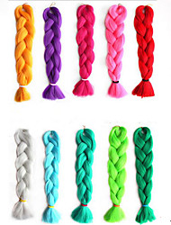 Ms African Chemical Fiber Color Big Child Jumbo Braid Hair High Temperature Wire Monochromatic Braid 1PCS