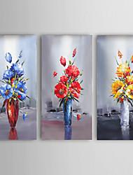 espátula mão pintura a óleo da arte da flor arte pintada imagem decoração da parede com stretche quadro