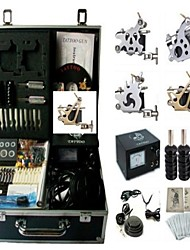 Basekey Tattoo Kit K0114 4Guns Machine With Power Supply Grips Cleaning Brush  Needles