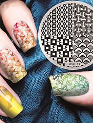 2016 últimas placas plantilla imagen de estampado patrón de la manera versión de uñas de arte