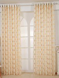 280cm*280cm,One Panels Modern Solid Yellow Living Room Polyester Sheer Curtains Shades