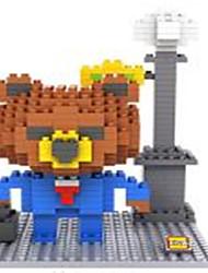 Loz Brown Bears work Loz Diamond Blocks Block Toys DIY Toys (340 Pcs)