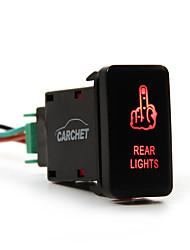 carchet для Тойота водить кнопочный переключатель с разъеме провода Kit- лазера задние фонари (палец) символ красный