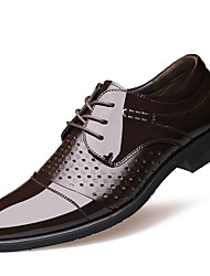 Men's Business Leather Shoes Wedding Shoes Hollow Out Breathable Leather Shoes