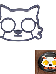 Silicone Cat Face Shaper Cat Fried Eggs Moulds Cute Interesting Kitchen Mould