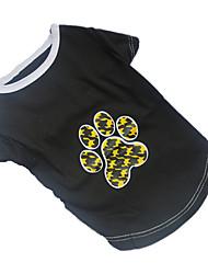 Hunde T-shirt Schwarz Sommer Karton