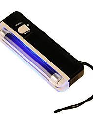 2 en 1 uv lampe torche à lumière noire portable détecteur de trésorerie faux argent (couleur aléatoire)