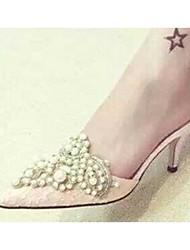 Розовый / Миндальный-Женская обувь-Для праздника-PU-На шпильке-Тапочки-Тапочки