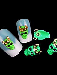punk cranio gioielli chiodo fluorescente mentale (5pcs)