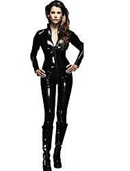 Women's High Neck Full Sleeve PVC Catsuit Zentai