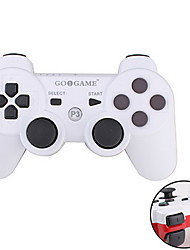 GOiGAME Wireless Two-Tone Controller for PS3 (White + Red)