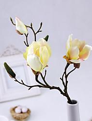 Retro Style Magnolia Artificial Flowers Multicolor Optional 1pc/set