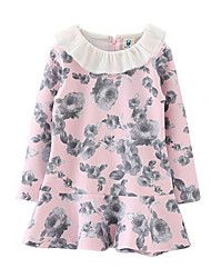 Girl's Dress,Polyester Spring / Fall Blue / Pink
