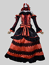Inspired by Date A Live Kurumi Tokisaki Anime Cosplay Costumes Cosplay Suits Vintage Black / Red SleevelessTop / Skirt / Headband /
