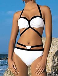 Bikini Da donna Monocolore Push-up All'americana Poliestere