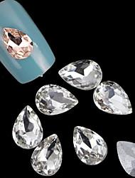 lovely 7 * queda de 10 milímetros unhas jóias (10 pcs)