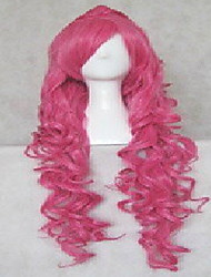 Fashion Cosplay Wig Pink Synthetic Hair Woman's   Long Wavy Animated Wigs Cartoon Wigs  Full Wig