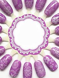 белый Япония 3d стикер ПВХ цветок украшения ногтей